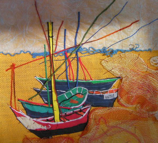 Omaggio A Van Gogh (barche Di Pescatori Sulla Spiaggia A Sainte-Maries)
