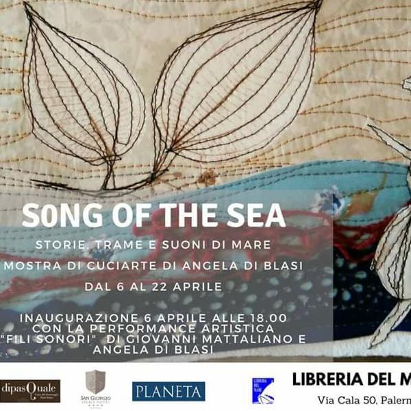 """Fili Sonori Alla Mostra """"Song Of The Sea- Storie, Trame E Suoni Di Mare"""" Di Angela Di Blasi Alla Libreria Del Mare Di Palermo  Copia"""